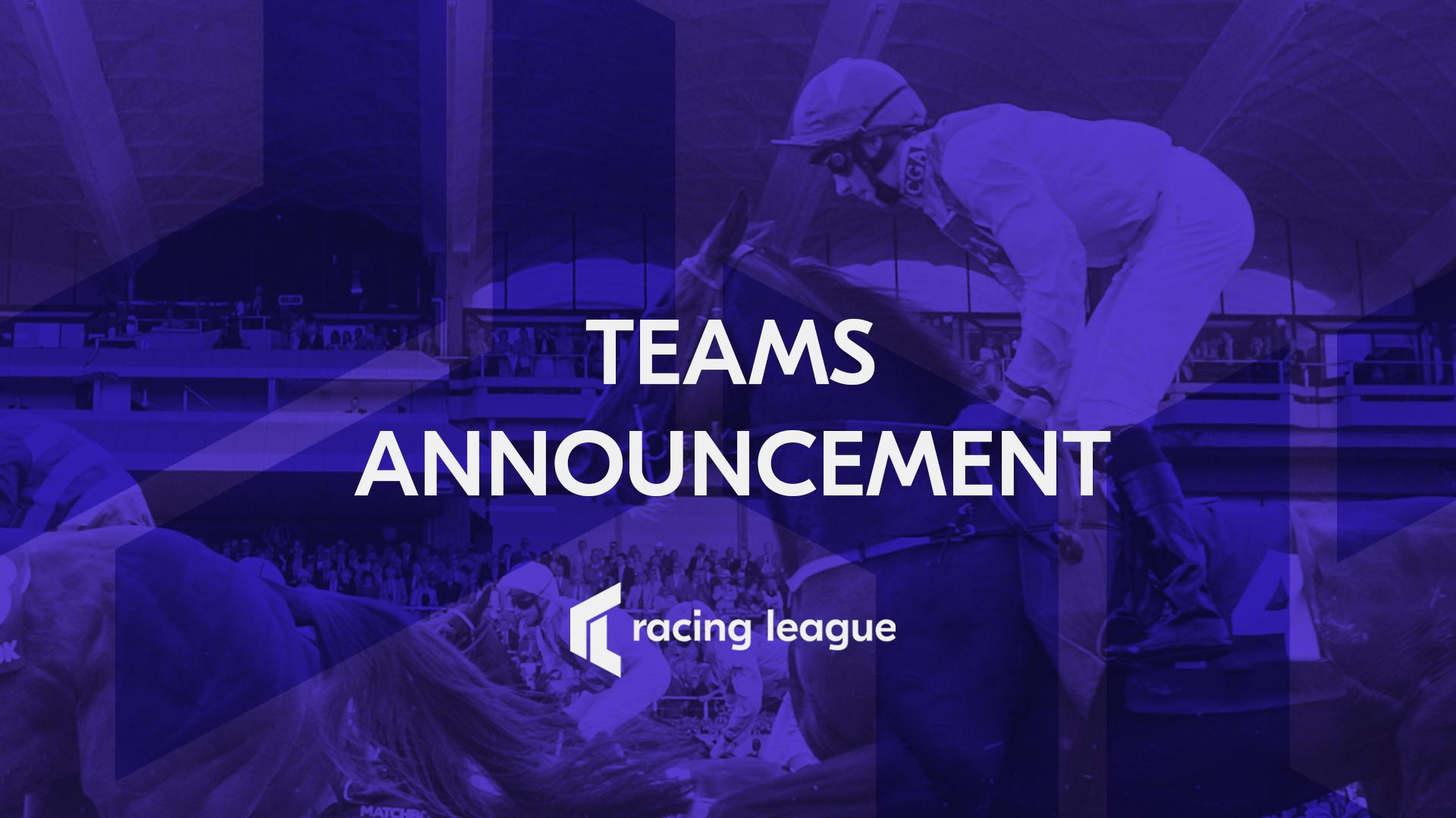 Racing League's First 6 Teams Announced